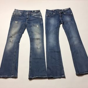 2 Pairs Miss me bootcut jeans